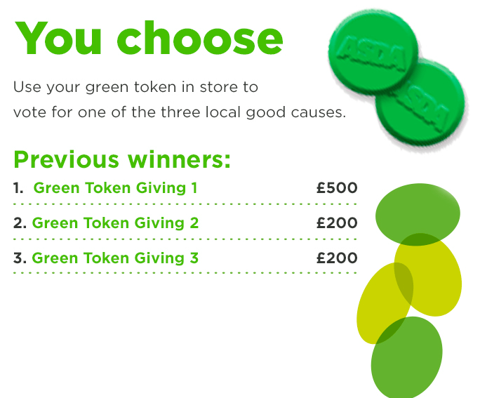 Asda - How the green tokens work