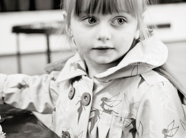 Girl at pre-school