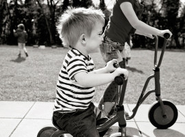 Toddler on a bike