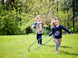 Young kids with hula hoop
